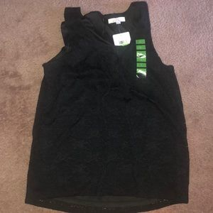 Ellen Tracy (L) Beautiful Black sleeveless tank